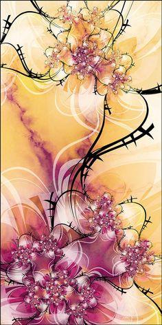 art work, fractal art, fractalart, rose garden, rosegarden