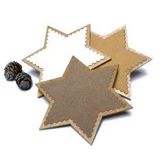 Unique Christmas Gift, Set of 3, Christmas Ornament, Christmas Decor, Christmas star, Home Decor, Wood, Cream, White, Minimalist