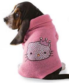 hello kitti, cat, anim, dogs, pet sweater, dog sweaters, kitti pet, hellokitti, hello kitty