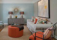 orange sitting room