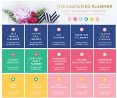 The Simplified Planner: Library of Free Planner Printables