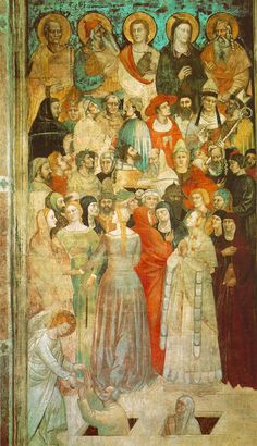Cotehardies are the fitted dresses (women) and tops (men) seen on most western Europeans in the mid to late 14th century. Italian 1350.