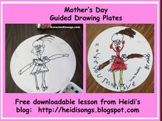 Heidisongs Resource:  Mother's Day Guided Drawing Makit Plates Freebie!