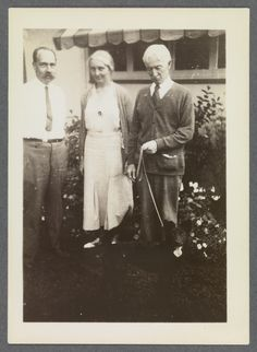 (L to R) Walter Pach, Eugénie Prendergast, and Charles Prendergast, 1930 at Williams College Museum of Art, Prendergast Archive and Study Center