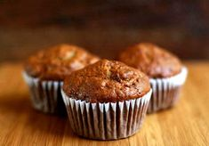 Banana Nut Muffins (photo). Awesome recipe. I skipped the coffee and added 60% baking chips. Next time, I shall try with the coffee. http://www.simplyrecipes.com/recipes/banana_nut_muffins/#