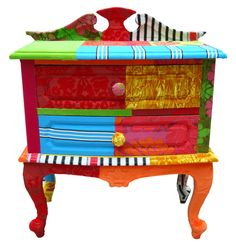 Funky painted furniture on pinterest 55 pins for Funky bedside tables