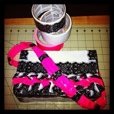 Duck Tape Pink and Lace Ruffles Purse by DuckTapeAndDerby on Etsy, $20.00