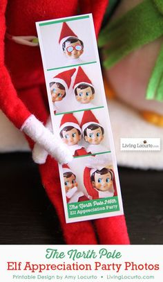 THE ELF ON THE SHELF~ mini photo booth party pictures from The North Pole.