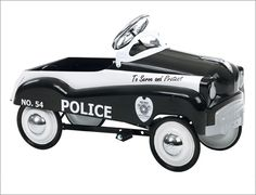 police riding toys, pedal cars, toy polic, police cars, vintag pedal, rare pedal, polic car, kac pedal