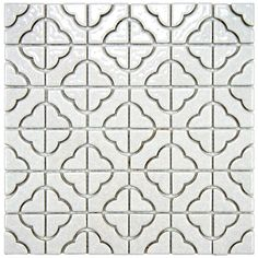 SomerTile Castle White Porcelain Mosaic Tile (Pack of 10) | Overstock.com