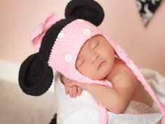 MOUSE PINK CROCHET HAT from A Pocket Full Of Sunshine
