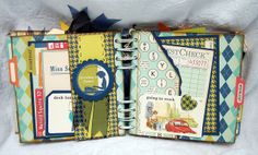 #papercraft #Scrapbook   October Afternoon 9 to 5 #MiniAlbum by Becky F. Garrison, via Flickr