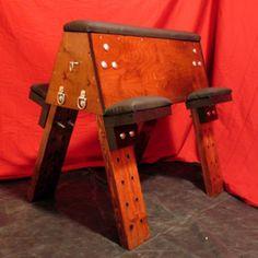 The Cohort Bondage Bench via Etsy --- dungeon furniture