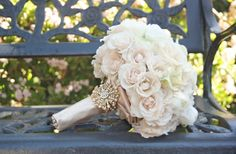 vintage wedding flowers soft pink ivory roses bridal bouquet