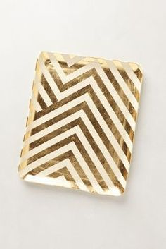 gold chevron desk tr