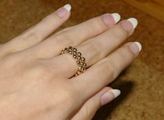 Elastic Ring Tutorial - Could also put a pretty bead in the center for embellishment