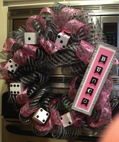 Bunco Wreath/// inspiration only