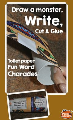 Fun Word Work on a roll of toilet paper // Great for French learning and more // FREE