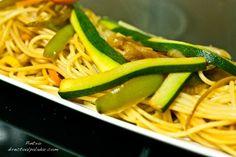Espauetis con verduras