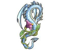 ti dragonsunicornspegasus, tattoo flowers, tattoo water dragon, dragon tattoos, dragon tattoo ideas