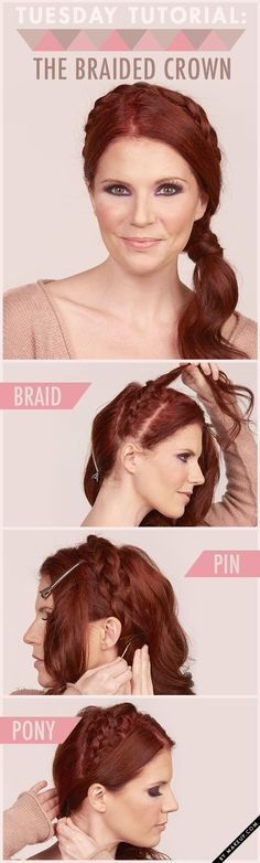 braided crown {so pretty!}