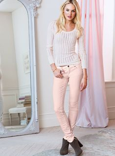 corduroy midris, sweater, victoria secrets, sirens, fall fashions, soft pink, outfit, midris siren, fall edit