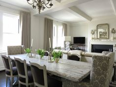 compact living and dining space