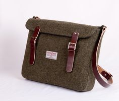 Harris Tweed Leather Green :D