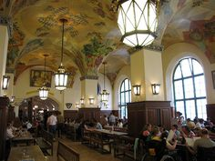 Hofbrauhaus Beer Hall in Munich, Germany.