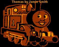 Thomas the Train Stencil - The Pumpkin Wizard