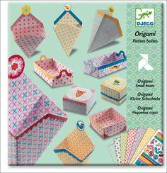 #DIY #origami small boxes & #stickers by #Djeco from www.kidsdinge.com https://www.facebook.com/pages/kidsdingecom-Origineel-speelgoed-hebbedingen-voor-hippe-kids/160122710686387?sk=wall #kidsdinge