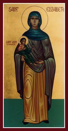 Heilige Elisabeth en haar zoon Johannes