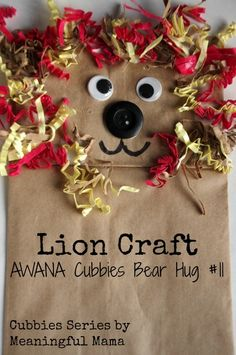 Lion Puppet Craft - Daniel and the Lion's Den - Meaningful Mama