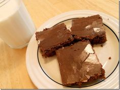 Brownies with icing...I like the icing recipe!