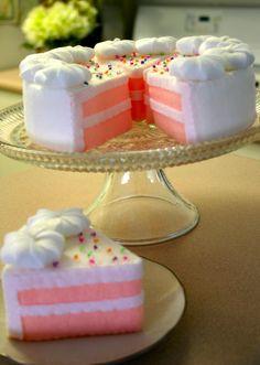 felt birthday, ecofelt cake, birthday cakes