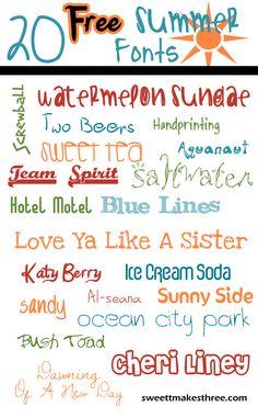 20 Free Free Summer Fonts