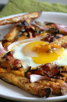 Bacon, Egg, and Cheese Breakfast Chili Fries | BakerbyNature