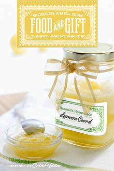Free printable jar labels by Cathe Holden from WorldLabel.com Available is several different colors.