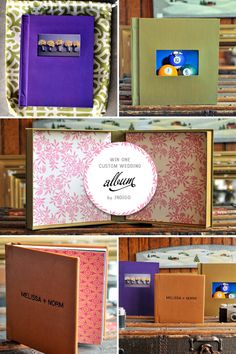 Love these wedding albums/coffee table books from Indigo Album Designs