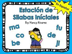 These Spanish initial syllable learning station activities will give your students a variety of ways to practice identifying initial syllables with all five vowels.