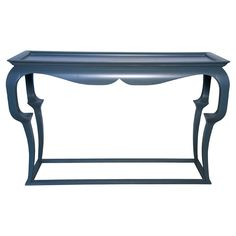 Cheverly Console Table in Blue