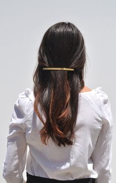 long golden barrette