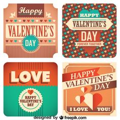 FREE printable Valentine's Day Cards Retro Collection