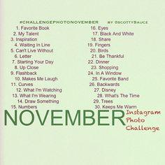 November Instagram Photo Challenge