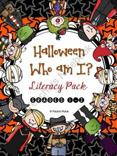 Halloween - Who am I? from Paulas Place on TeachersNotebook.com -  (45 pages)  - Halloween � Who am I? (Grades 1-2) 45 pages  This pack will enrich the oral language skills of your students while stretching them to write and use adjectives through dressing up for Halloween.