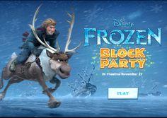 block parti, frozen game, parti parti, frozen parti, parti frozen, disney frozen