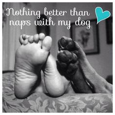 Nothing better than naps with my dog..