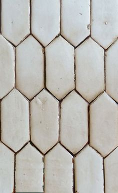 terracotta tile with an extended hex pattern  |  tabarka studio