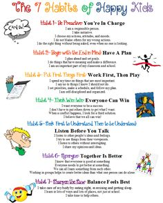 This will be a great take away to give to parents on back to school night or open house night. Confessions of a School Counselor: 7 Habits Poster