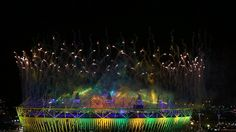 Closing Ceremony lights up the Olympic Stadium    Fireworks and coloured searchlights over the Olympic Stadium. Athletes, heads of state and dignitaries from around the world gathered in the Olympic Stadium for the Closing Ceremony of the XXX Olympiad.